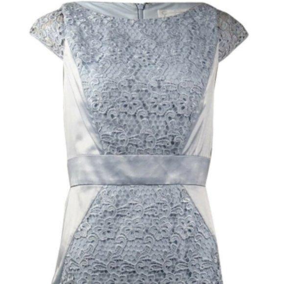 Jessica Simpson Dresses & Skirts - Jessica Simpson Lace Overlay Satin Sheath Dress